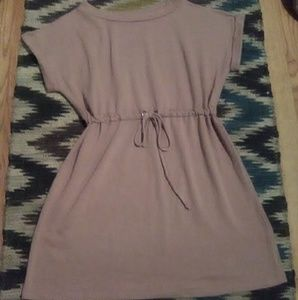 Boutique Dusty Rose Drawstring Waist Dress Sz L